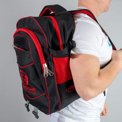 LiveSore Red & Black Back Pack