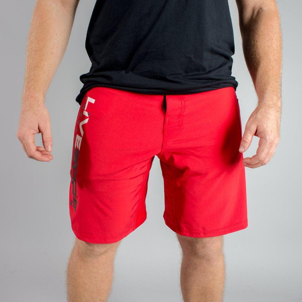 Red LIVESORE WOD Shorts