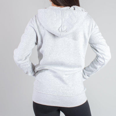 """Function"" Gray Shoulder Zip Hoodie"