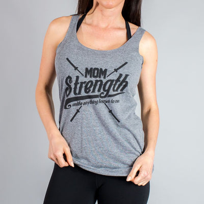 Mom Strength Tank Tops