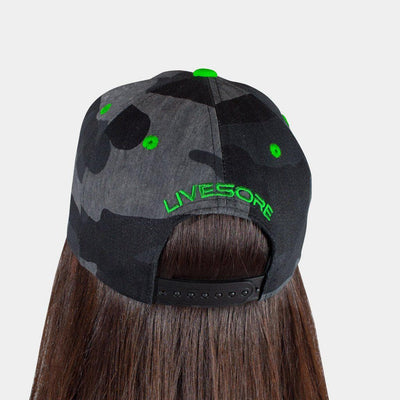 "Dark Camo ""GREEN SHIELD"" Curved Bill Hat"