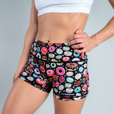 FIRE No-Rise Booty Shorts - GALAXY DONUTS