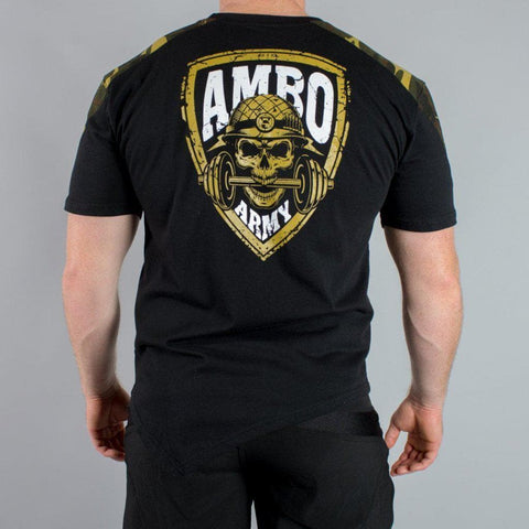 AMBO ARMY Black & Tan Camo Men's T-Shirt - Limited Edition