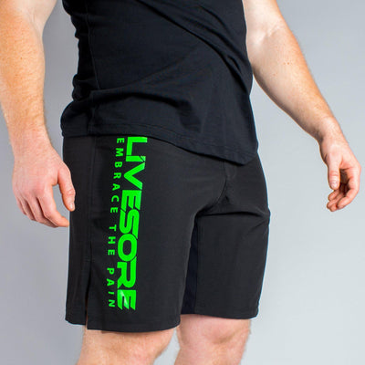 Black & Green Men's WOD Shorts