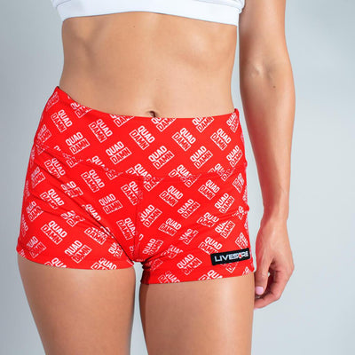 FIRE No-Rise Booty Shorts - QUAD DAMN