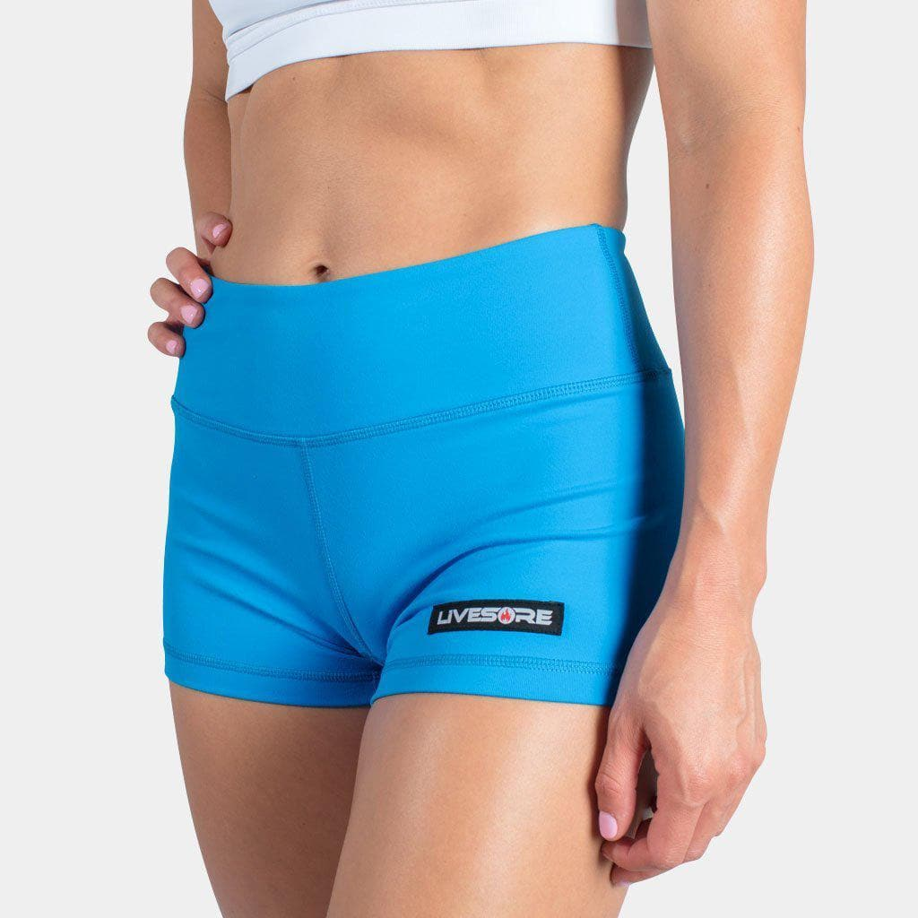 No-Rise Booty Shorts - BLUE SAPPHIRE-Womens Apparel,Womens Shorts-Livesore.net