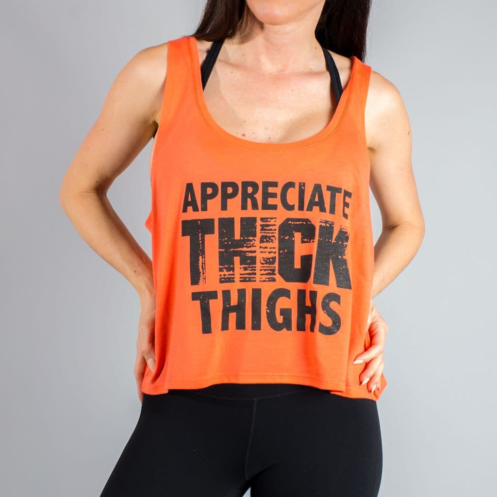 Appreciate Thick Thighs Crop-Womens Apparel,Womens Tanks-Livesore.net