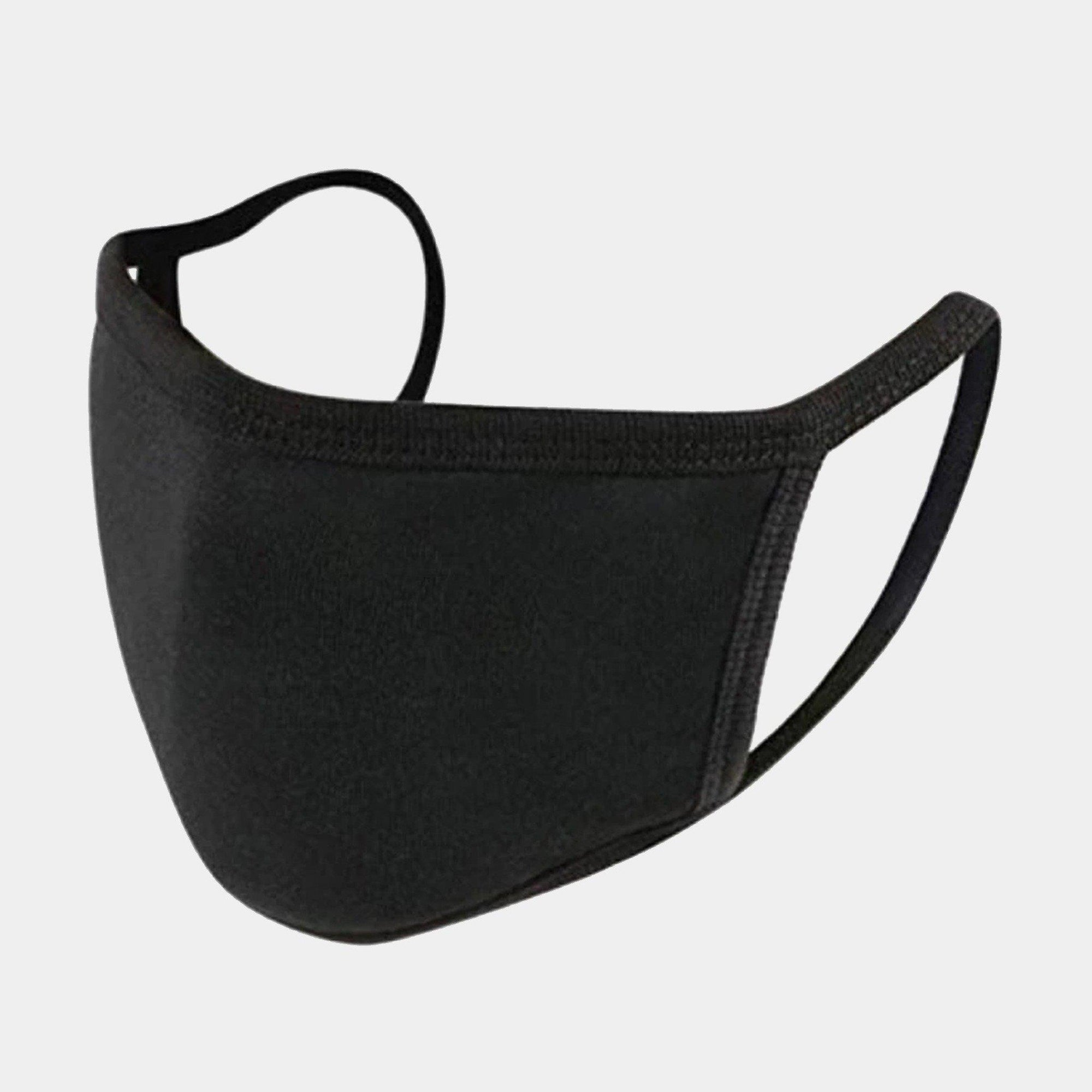 BLANK BLACK 2-LAYER FACE MASKS