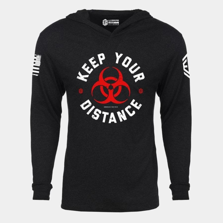 KEEP YOUR DISTANCE Lightweight Unisex Pullover Hoodie