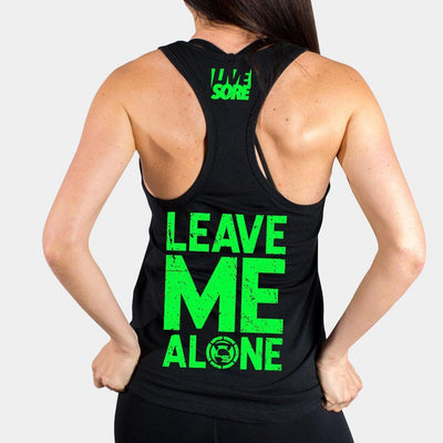 Leave Me Alone Black Tank Top