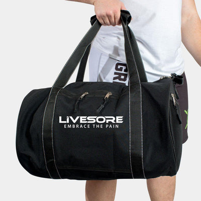 LiveSore Gym Duffel Bag - Black