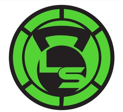 "Neon Green 3"" Circular Logo Sticker 3 Pack"