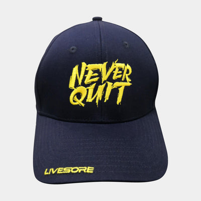 NEVER QUIT Curved Bill Hat