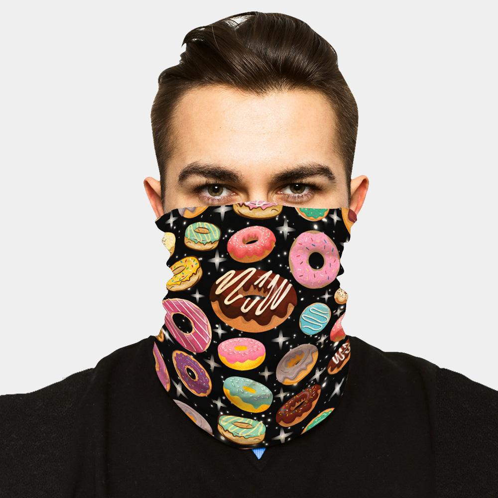 """ICE COOL"" FACE SLEEVE BUFF - DONUTS"