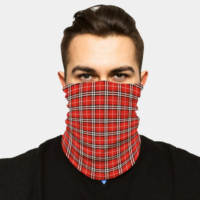 FACE SLEEVE BUFF - RED PLAID