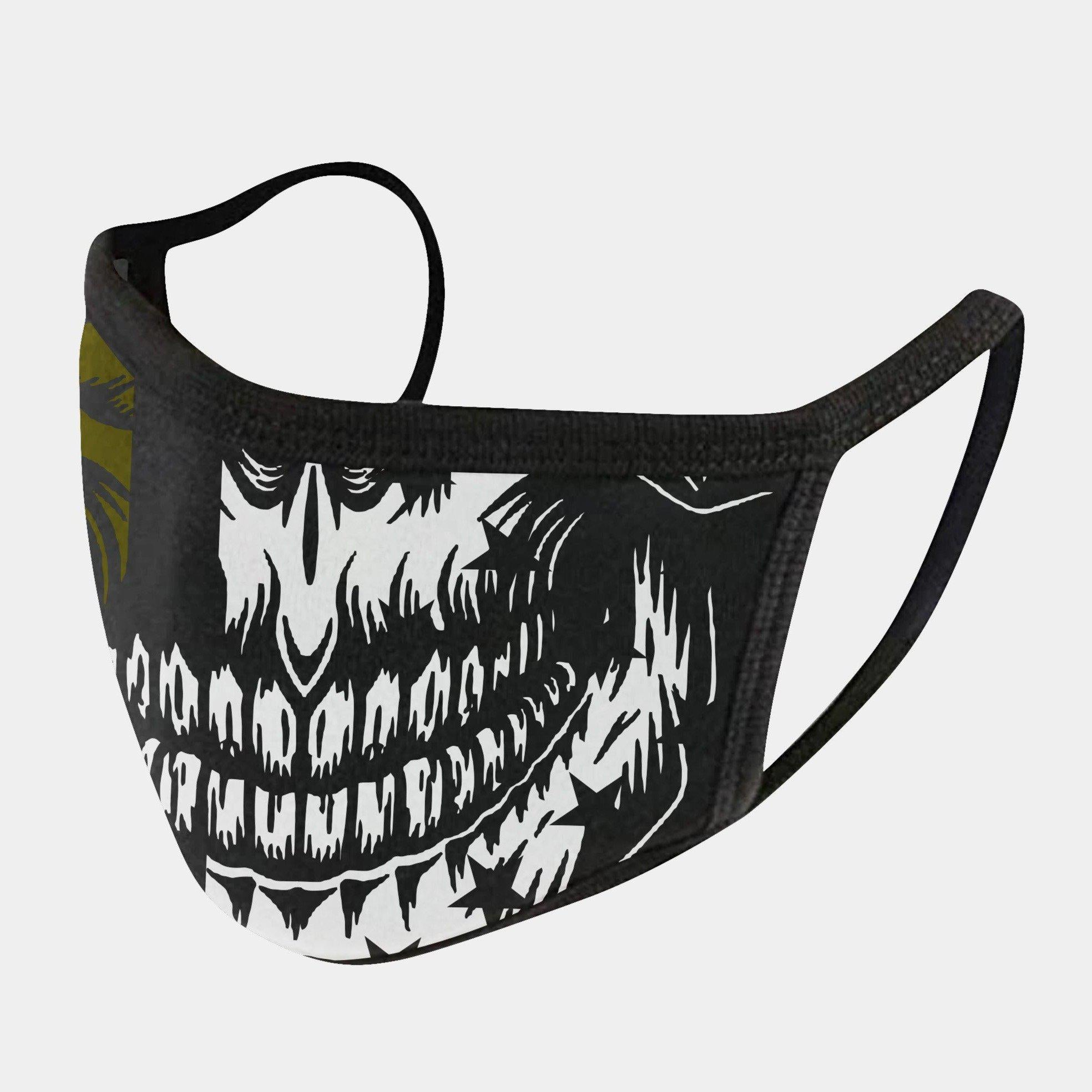 GREEN LINE SKULL 4-LAYER FACE MASKS