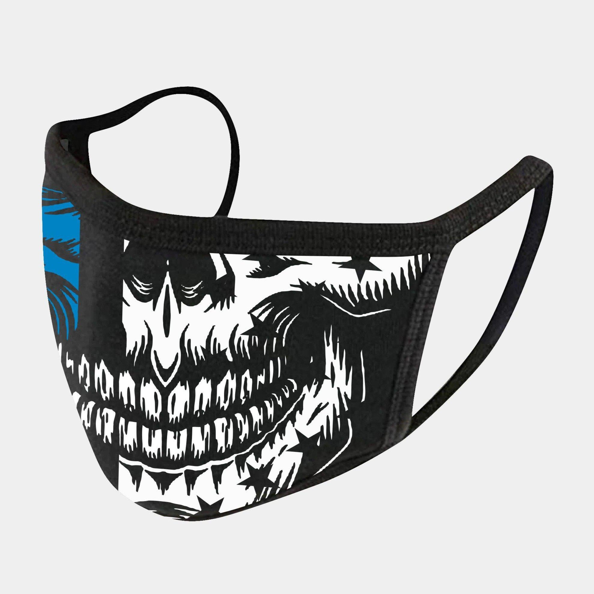 BLUE LINE SKULL 4-LAYER FACE MASKS