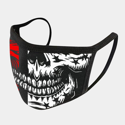 RED LINE SKULL 4-LAYER FACE MASKS