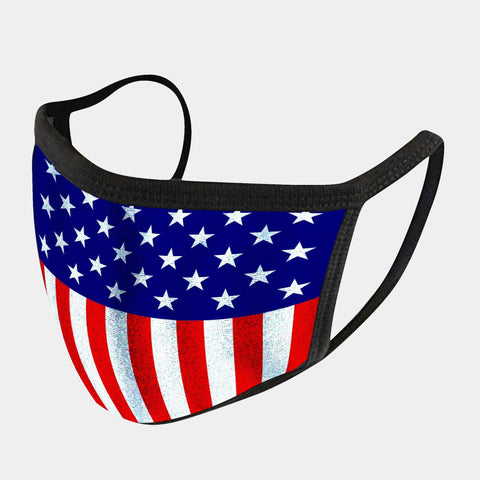 USA FLAG 4-LAYER FACE MASKS