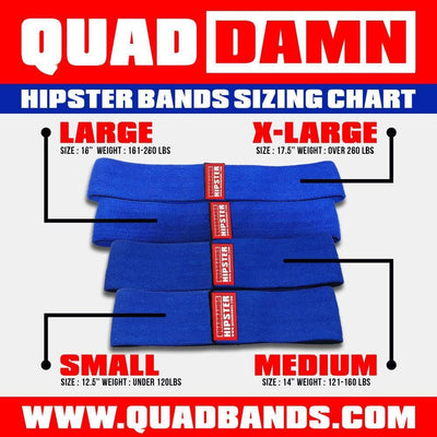 "QUAD DAMN ""Hipster"" Mobility Bands"