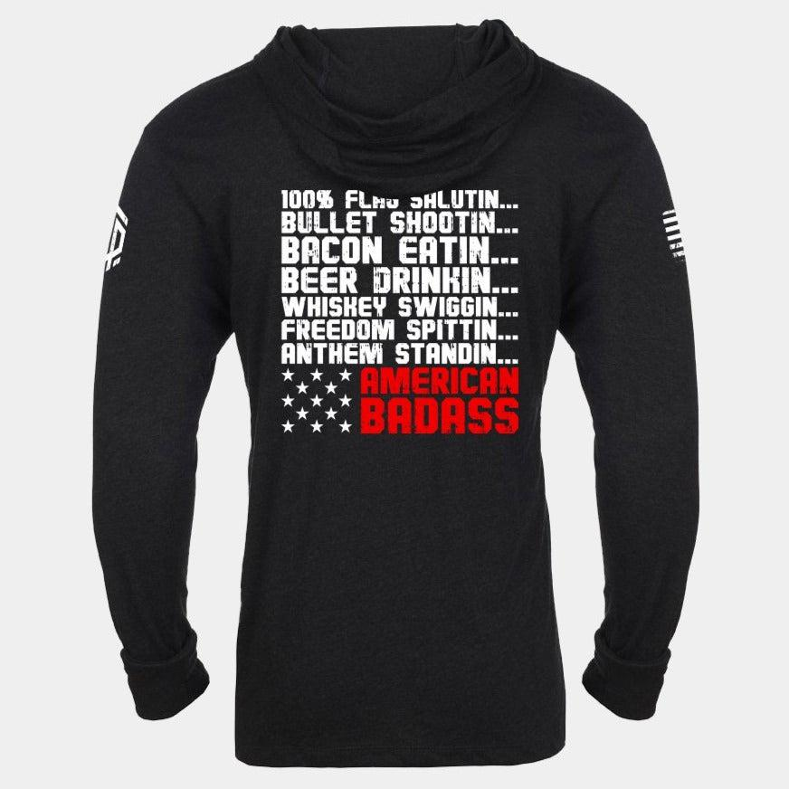 RED BLOODED AMERICAN Lightweight Unisex Pullover Hoodie