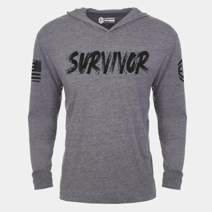 SURVIVOR F*CK YOU CORONA Lightweight Unisex Pullover Hoodie