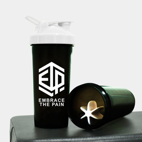 Black & White ETP EMBRACE THE PAIN Shaker Bottle