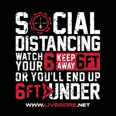 SOCIAL DISTANCING Sticker 5-Pack
