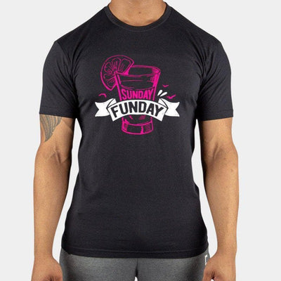 Sunday Funday Men's BLACK T-Shirt