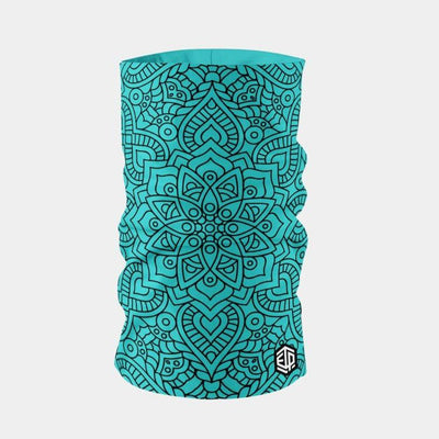 """ICE COOL"" FACE SLEEVE BUFF - TEAL BOHEMIAN"