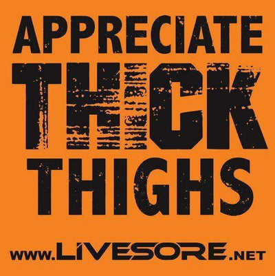 "Appreciate Thick Thighs 4x4"" Sticker 2 Pack"