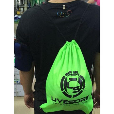 Neon Green LiveSore Stringer Backpacks
