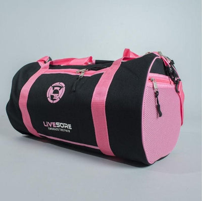 LiveSore Duffel Bags - Green and Pink versions