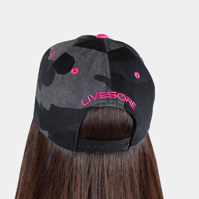 "Dark Camo ""PINK SHIELD"" Curved Bill Hat"
