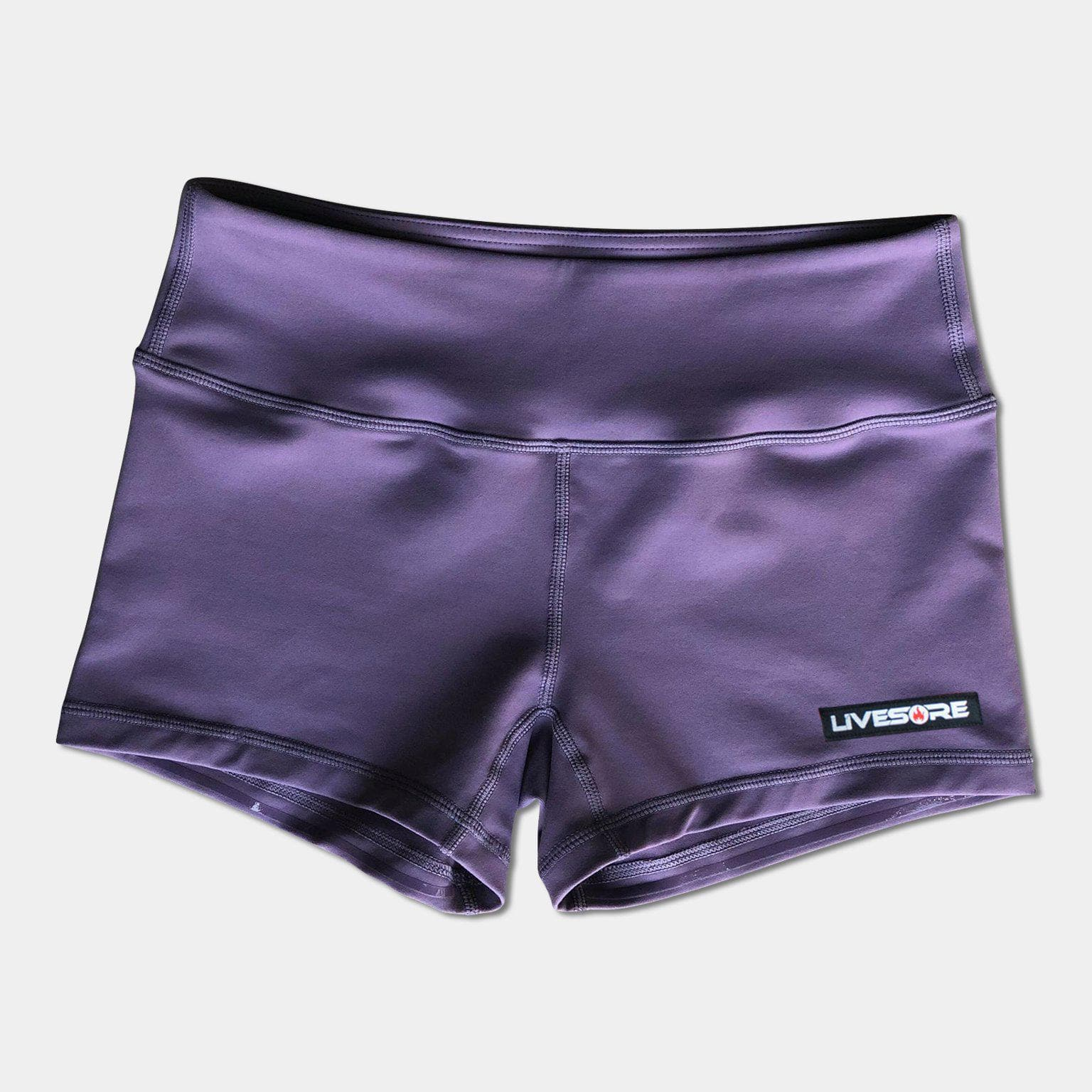 No-Rise Booty Shorts - LIGHT PURPLE