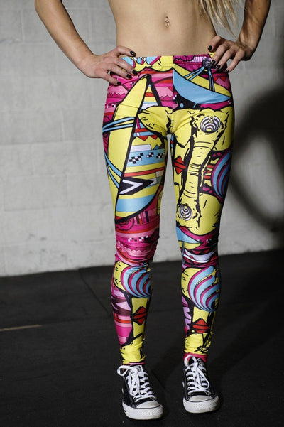 Cartoon Crazy Legs Leggings