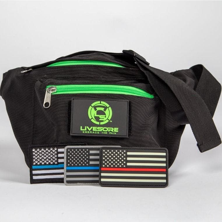 Fanny Pack - Black & Green LiveSore Patch-Accessories,Backpacks-Livesore.net