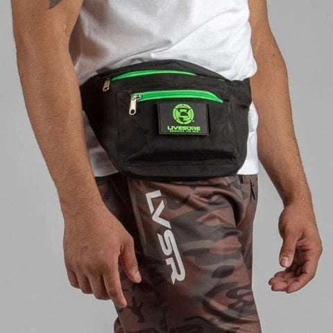 Fanny Pack - Black & Green LiveSore Patch