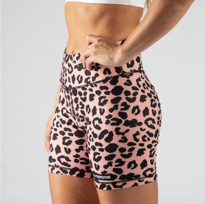 FIRE Booty BIKE Shorts - CORAL ANIMAL