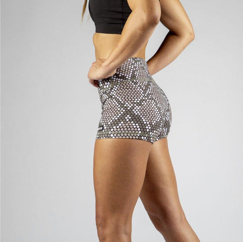 FIRE No-Rise Booty Shorts - SNAKE SKIN