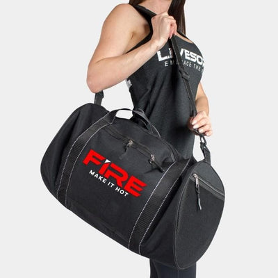 FIRE Gym Duffel Bag - Black/Red