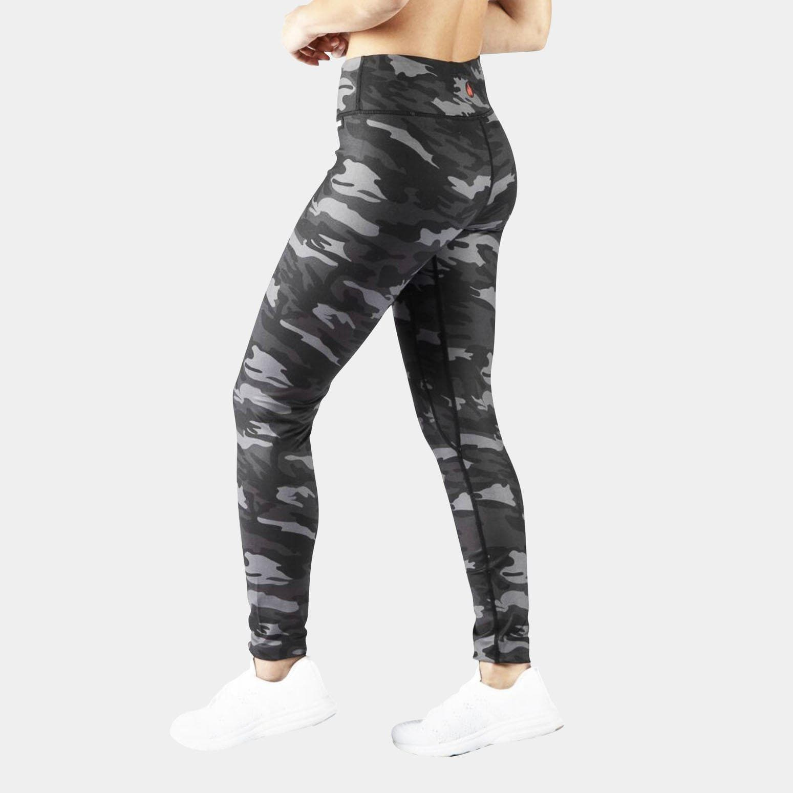 FIRE Booty Leggings - BLACK CAMO