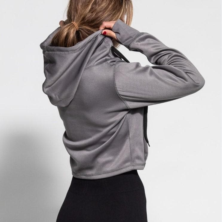 FIT TITS #FITTITS Cropped Hoodie-Womens Apparel,Womens Sweaters-Livesore.net