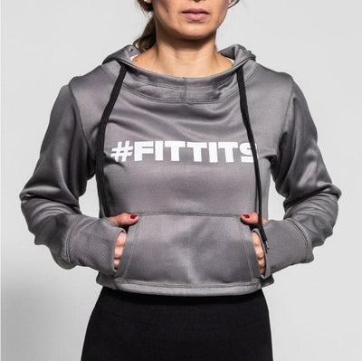 FIT TITS #FITTITS  Cropped Hoodie