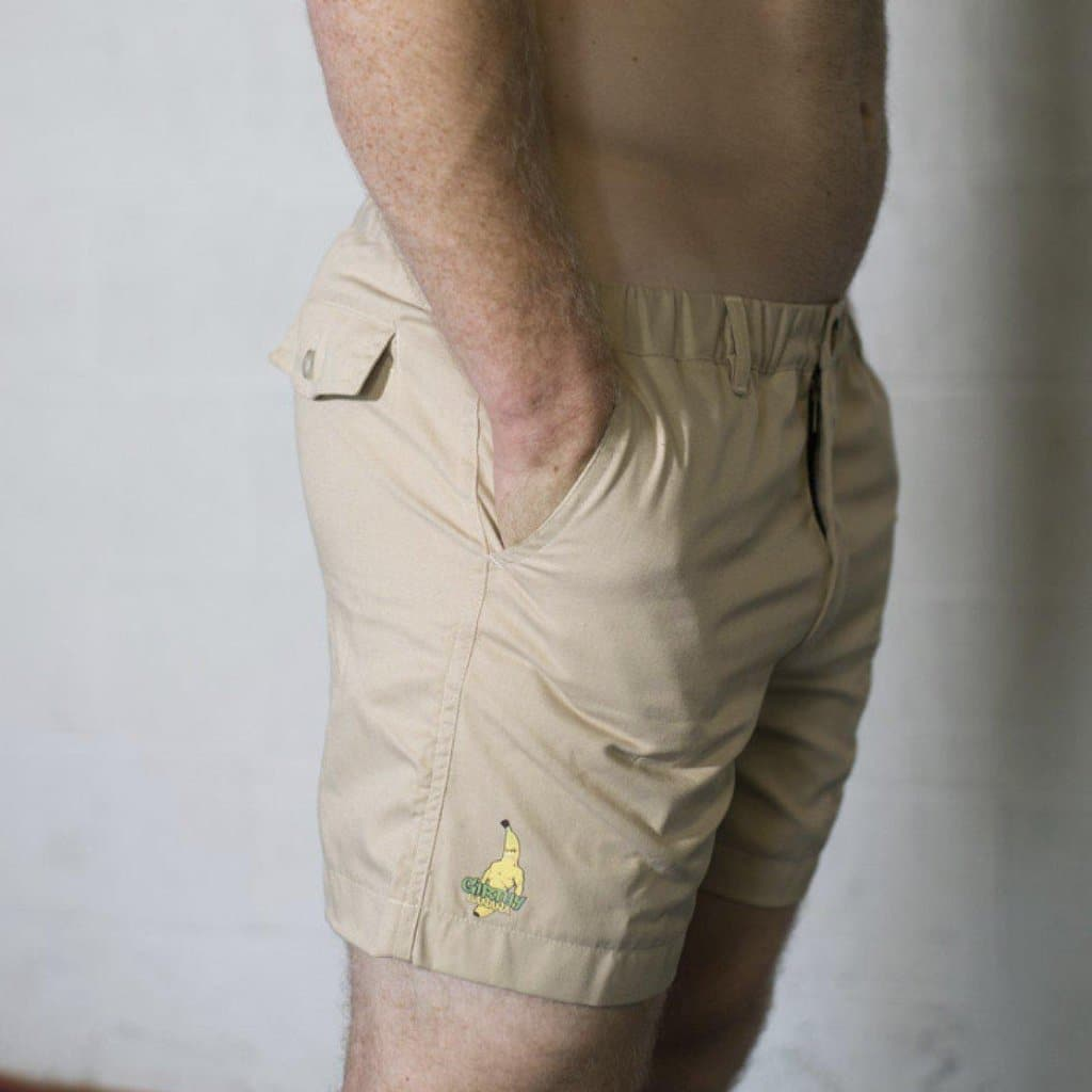 "Girthy Banana Shorts KHAKI ""CLOSEOUT""-Mens Apparel,Mens Shorts-Livesore.net"