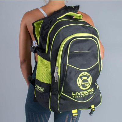 Green & Black LiveSore Backpack