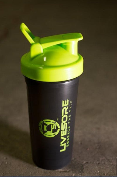 Green LiveSore Backpack + Shaker Bottle Combo