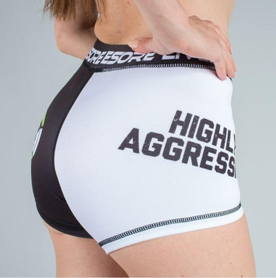 HIGHLY AGGRESSIVE 2-Tone Booty Shorts