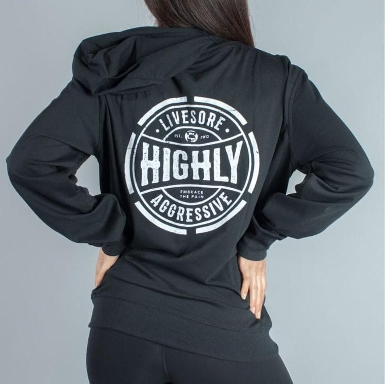 HIGHLY AGGRESSIVE Retro Lightweight Zipup Hoodie