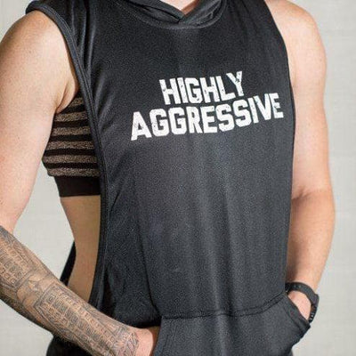 HIGHLY AGGRESSIVE Sleeveless Muscle Hoodie